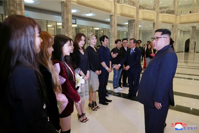k-pop in north korea kim jong-un red velvet