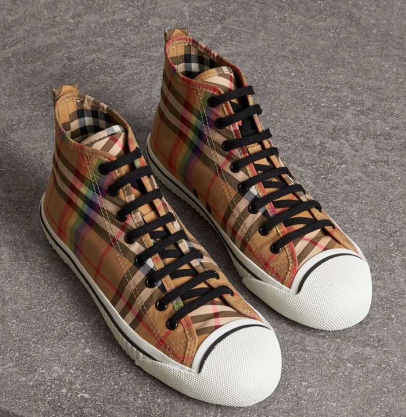 summer essentials burberry sneakers