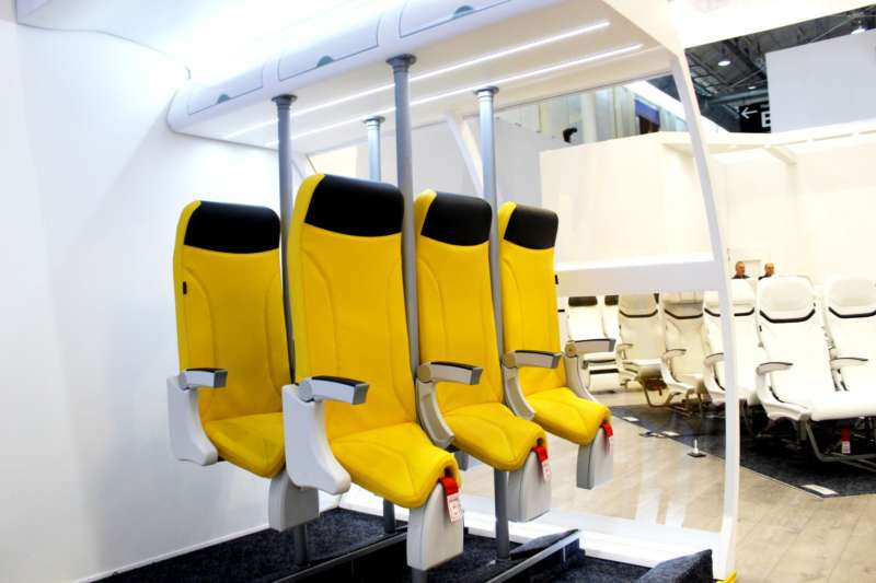 skyrider standing airplane seats
