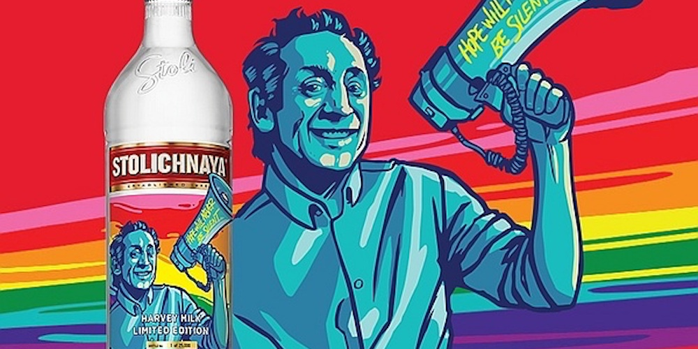 Stoli Has Released a Special Limited-Edition Harvey Milk Bottle Ahead of Pride Month