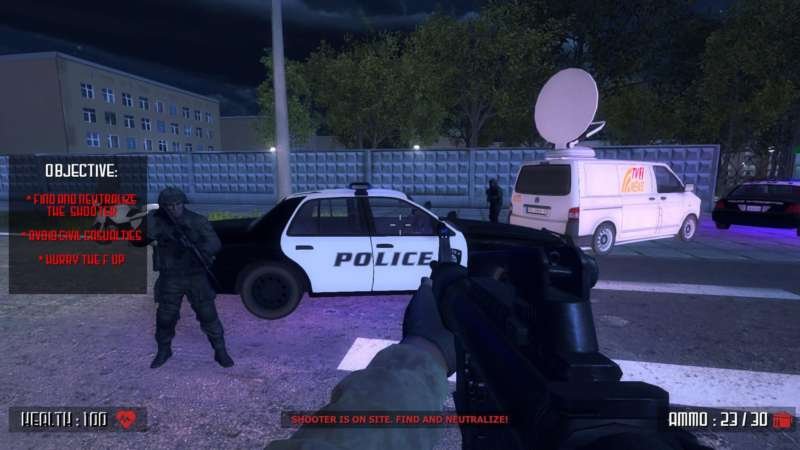 active shooter school shooting video games as screenshot