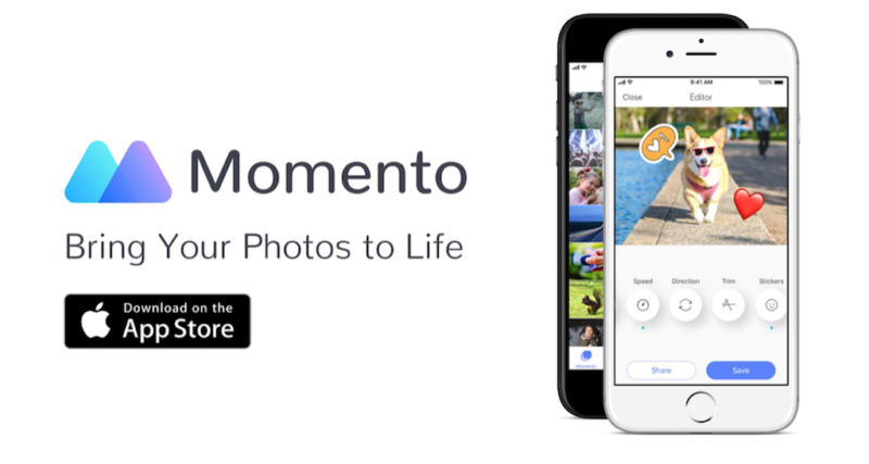 mobile apps guide momento gif maker