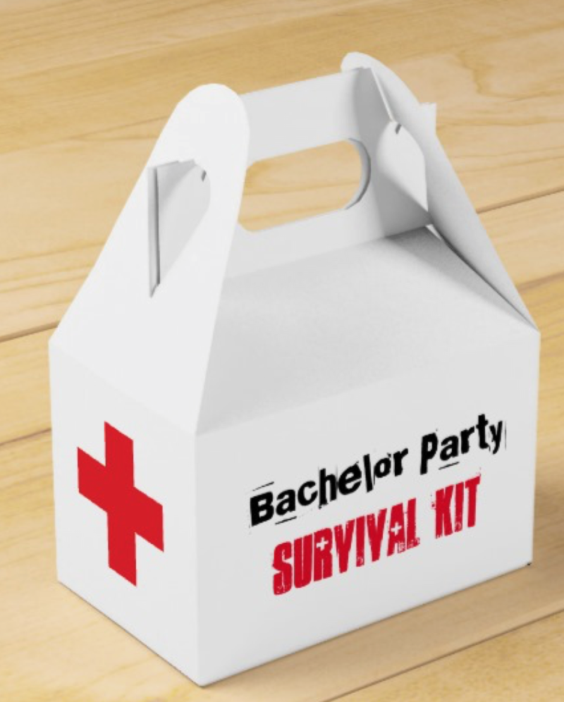 gay bachelor party survival kit