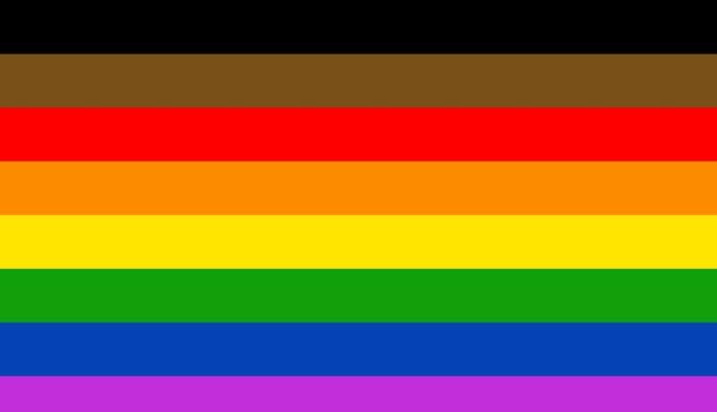 progress Pride flag 02, Philly Pride flag, Philadelphia Pride flag