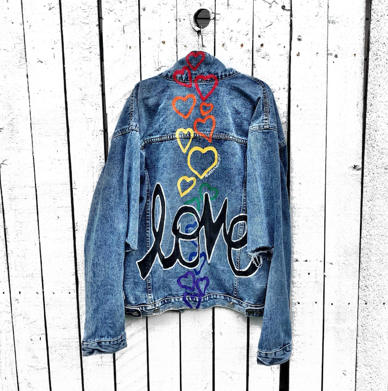 current obsessions wren glory love is love denim jacket