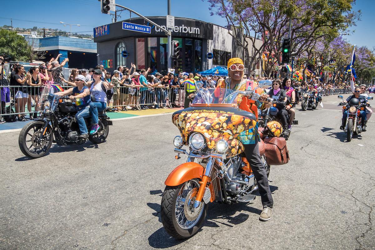 L.A. pride photos dykes bikes