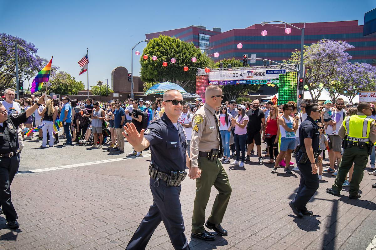 L.A. pride photos cops