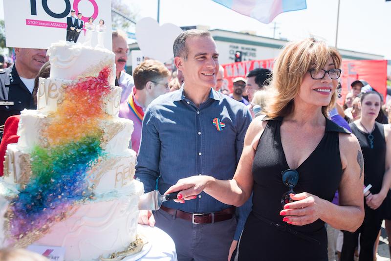L.A. pride photos garcetti