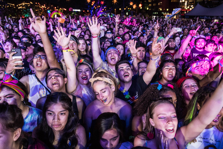 L.A. pride pics crowd dark