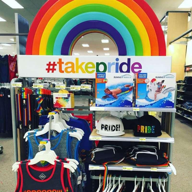 target pride display Target's LGBTQ Support