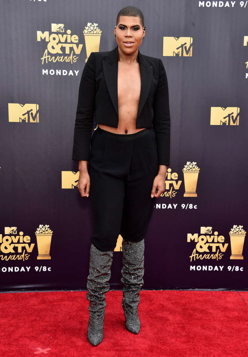 mtv movie tv awards 2018 mtv movie and tv awards red carpet ej johnson