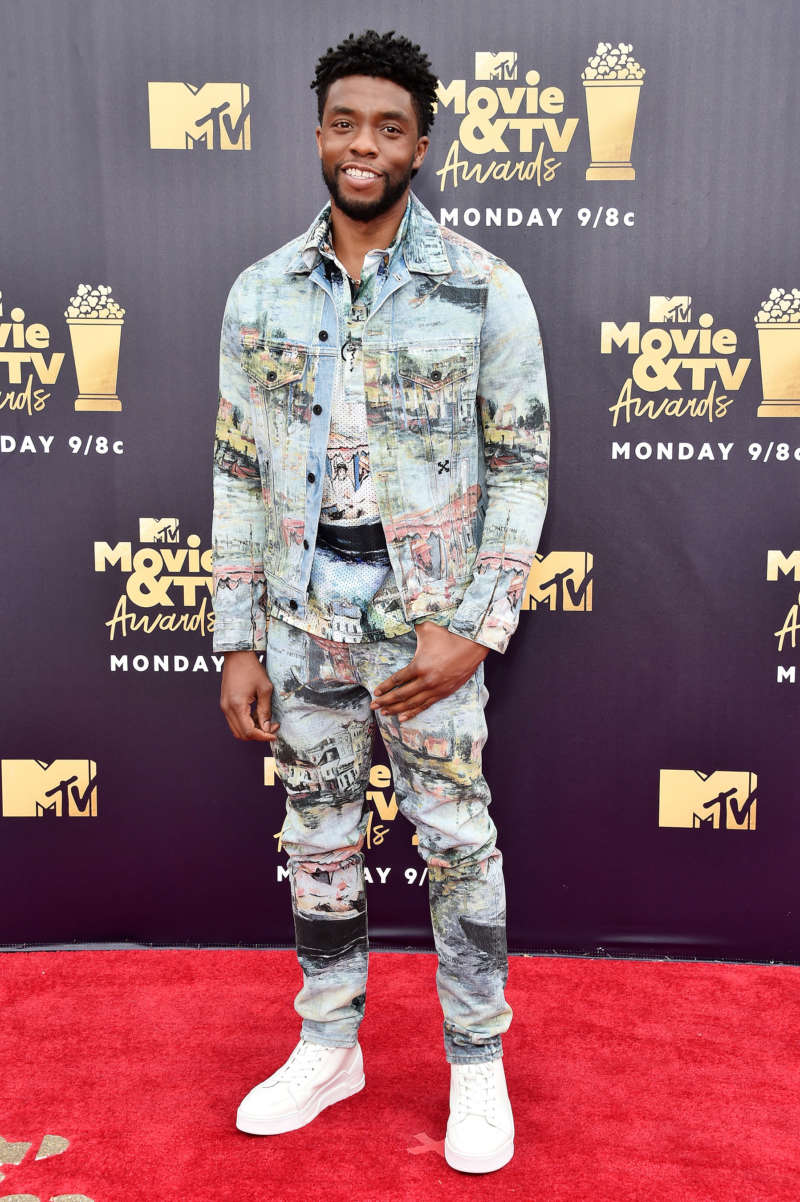 mtv movie and tv awards red carpet chadwick boseman