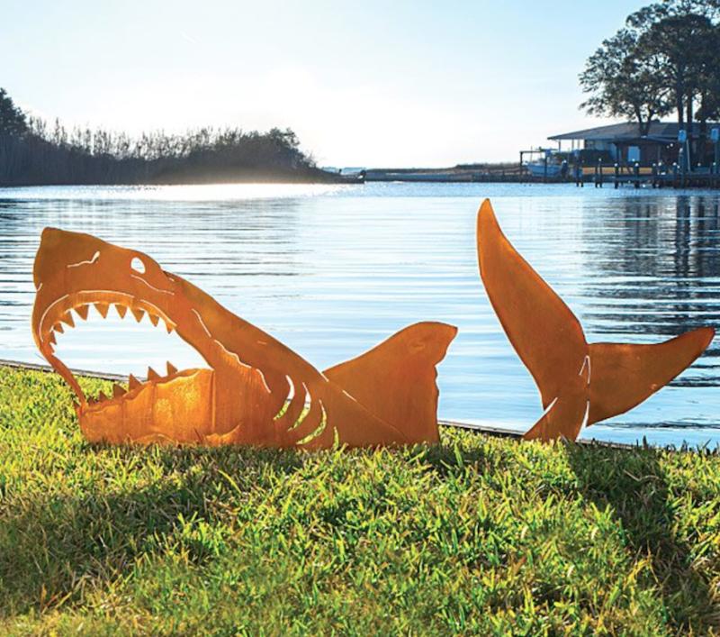 pool party shark art work candygram