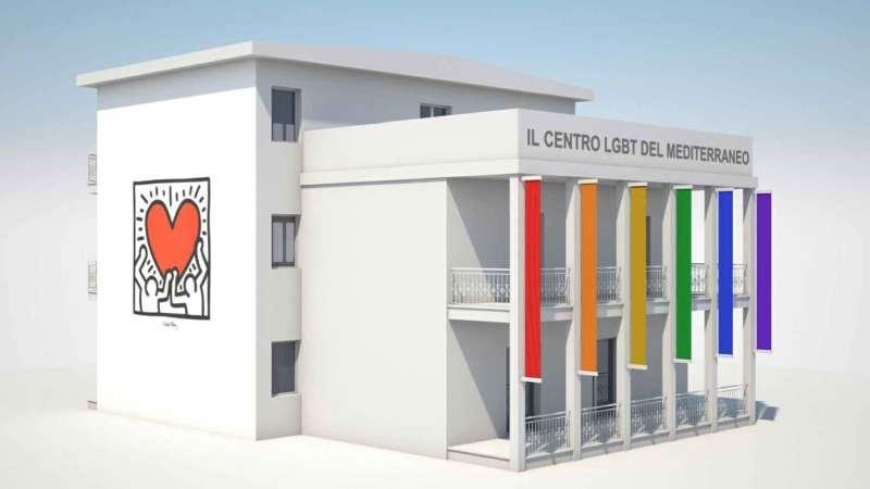 mafia boss's villa mediterranean lgbt centre