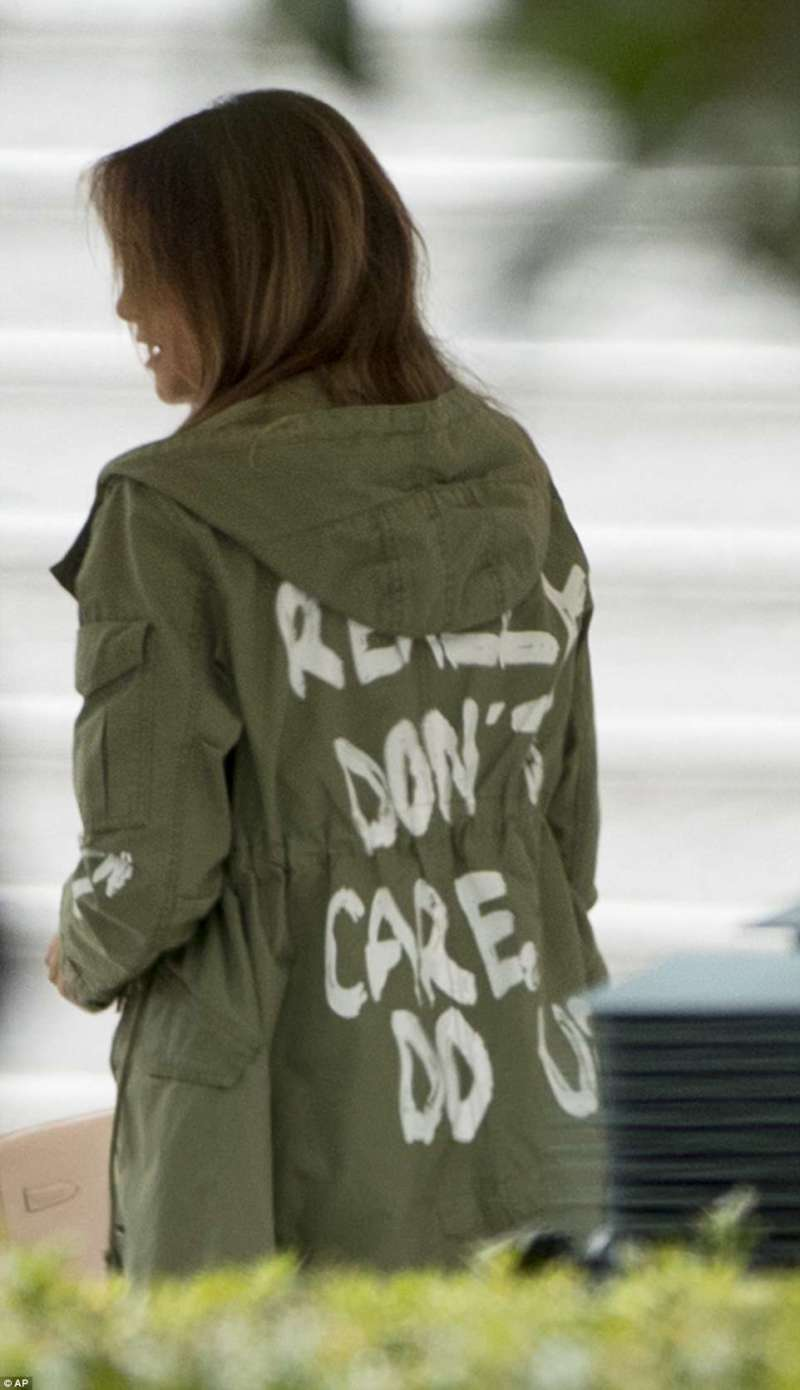 melania's jacket zara i don't care feat