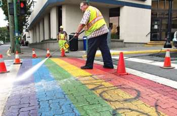 rainbow crosswalks vandalized 09