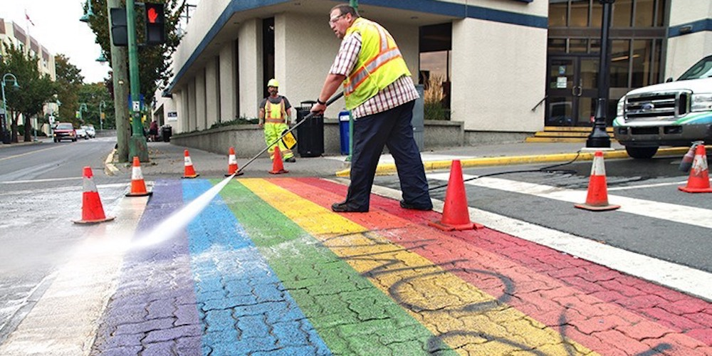 Rainbow Crosswalks Are Being Vandalized Around the World in Advance of Pride Celebrations