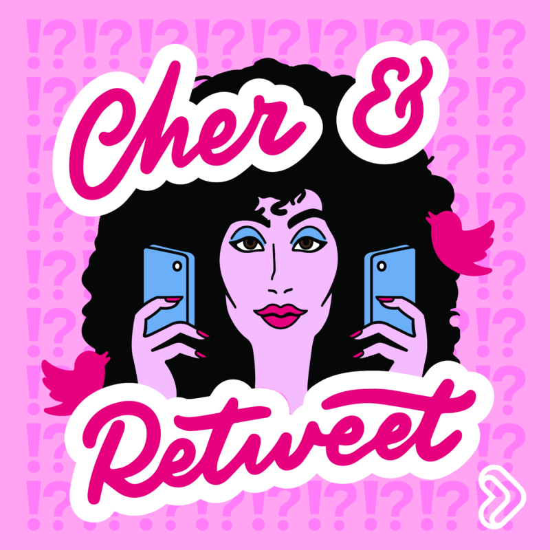 cher and retweet logo