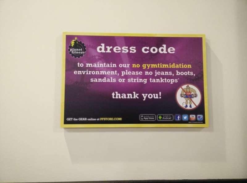 planet ftness dress code