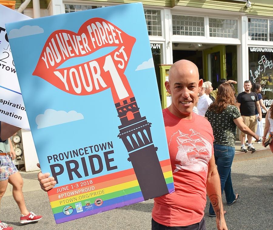provincetown pride photos sign