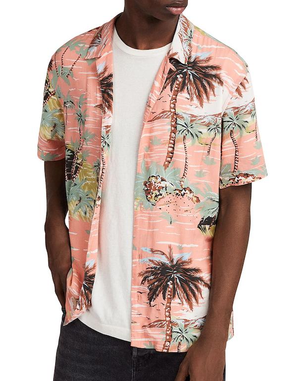 hawaiian print shirt all saints