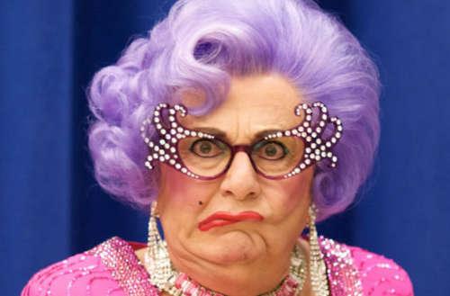 Barry Humphries 02, Dame Edna 02, anti-trans drag 02