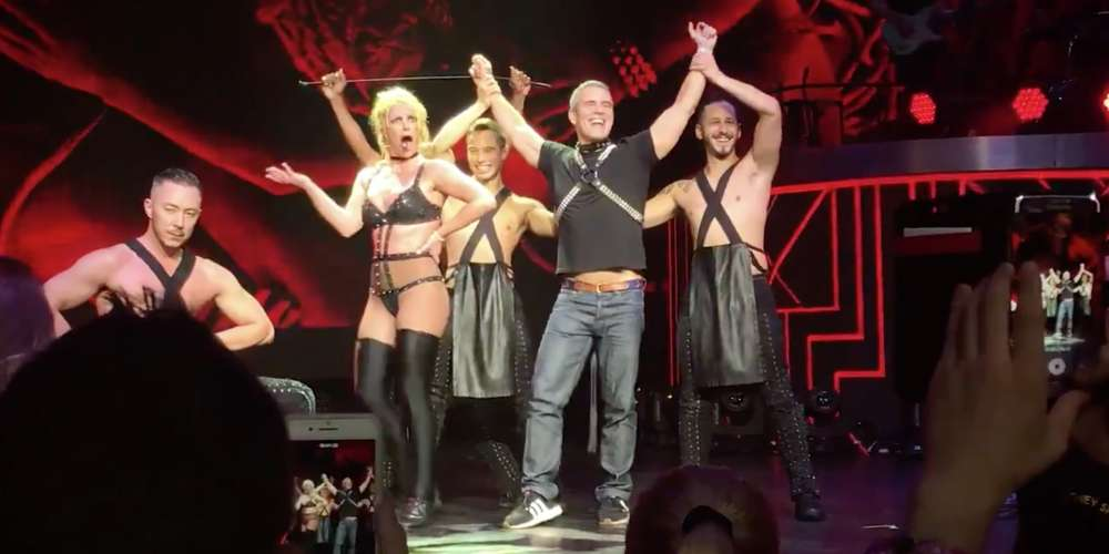 Andy Cohen Hopped Onstage at Last Night's Britney Spears Concert, and She Had No Clue Who He Was