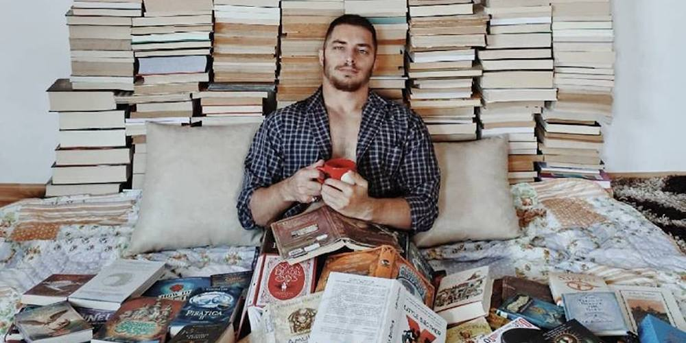 This Hunky Guy Uses Books to Create Amazing, Nerdtastic Art on His Instagram