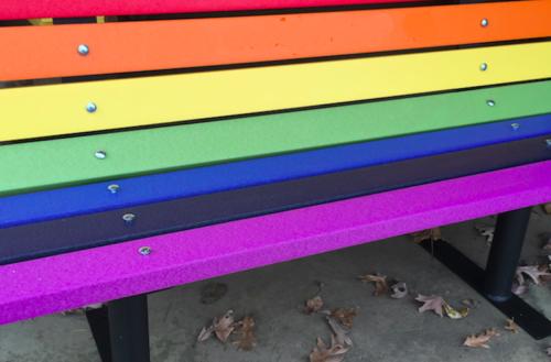 rainbow pride bench teaser