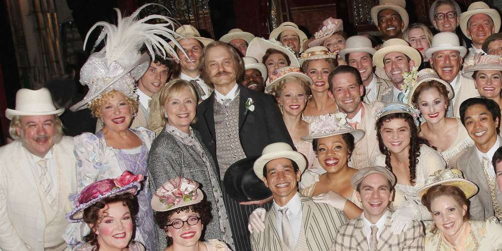 Watch as Hillary Clinton Gets a Standing Ovation at 'Hello Dolly' on Broadway