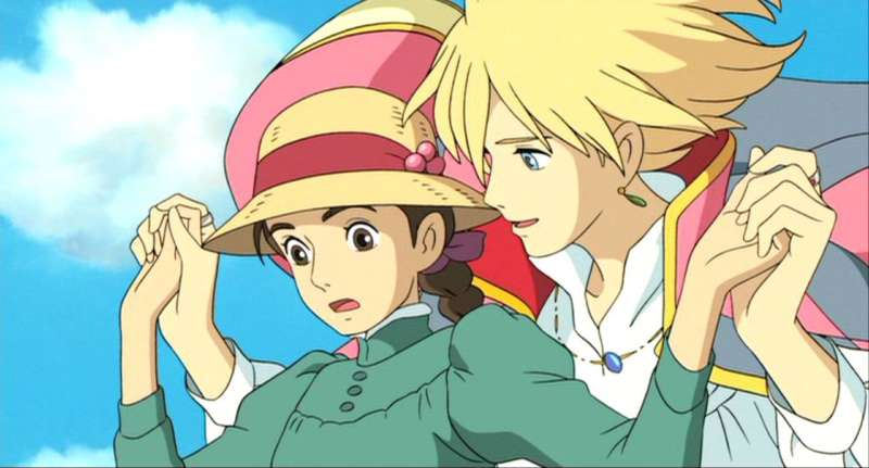 howl's moving castle howl and young sophie