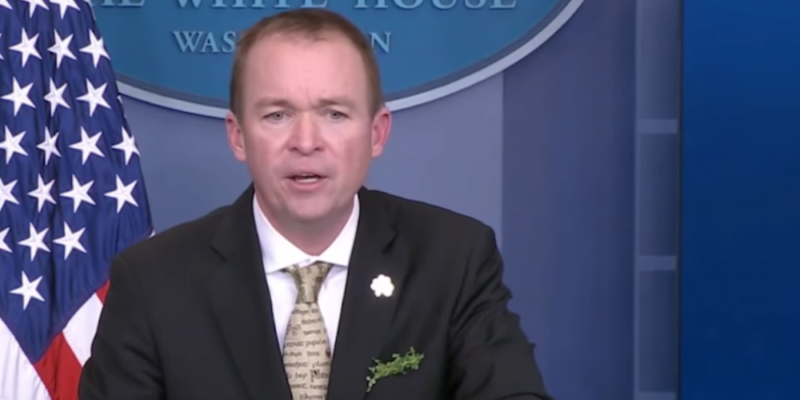 Mick Mulvaney 01 week in review week's top stories