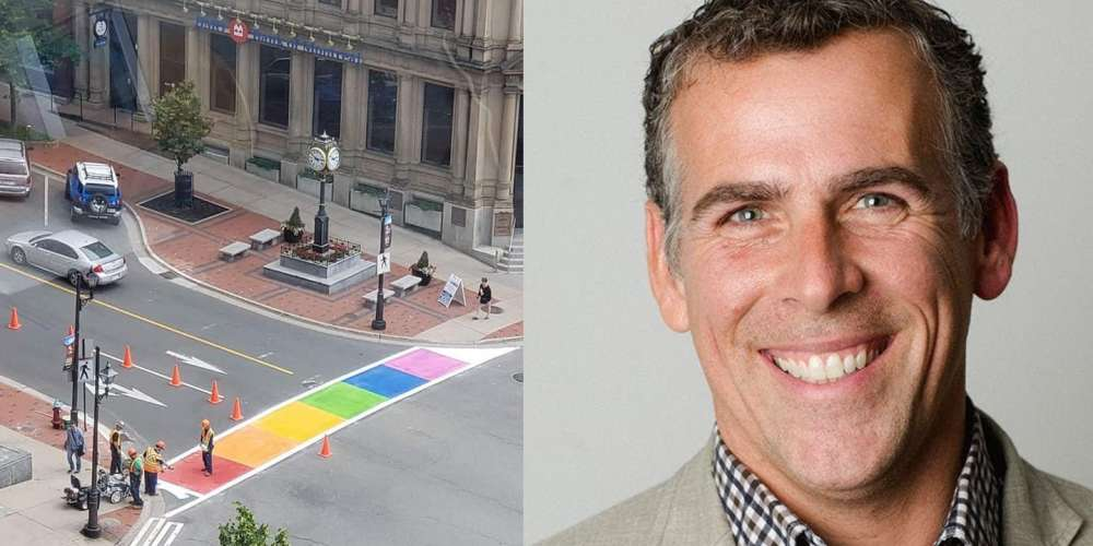 Canadian Mayor Shades 'Jackass' Who Left Tire Tacks On Rainbow Crosswalk