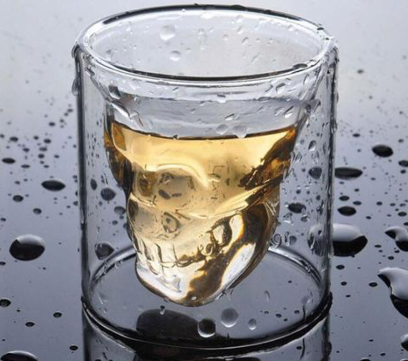 bar at home set skull shot glass