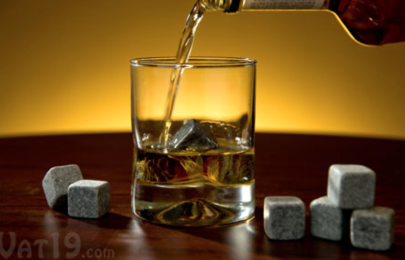 home bar essentials whisky ice cubes