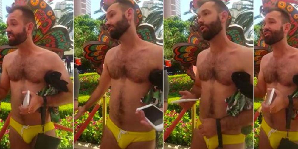 """Sunga apertada: gay é expulso de pool party por causar com sunga """"gay demais"""""""