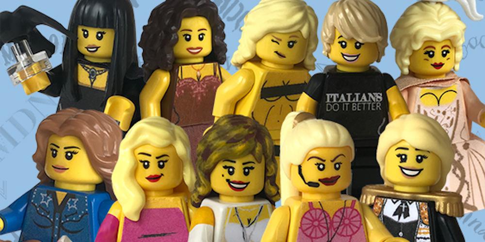 แฟนคลับฉลองวันเกิดมาดอนน่าด้วยชุดเลโก้ให้กับเพลง Material Girl