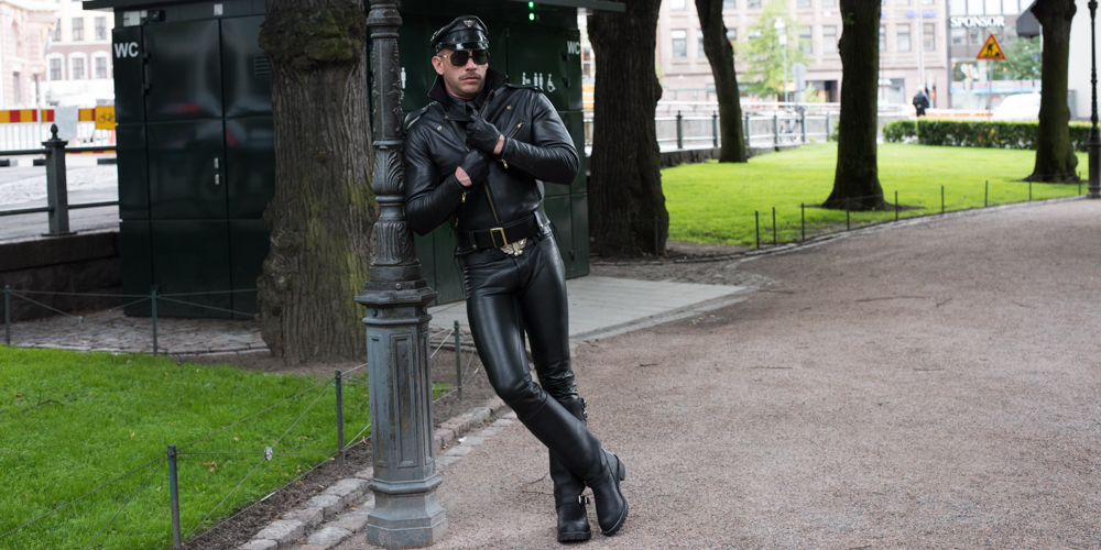 Leather Daddy Terry Miller Serves Tom of Finland Realness in Helsinki's Cruisiest Hotspots (Photos)