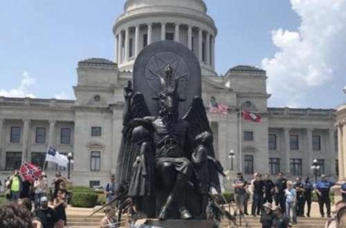 Satanic Temple Arkansas 01, Baphomet statue 01