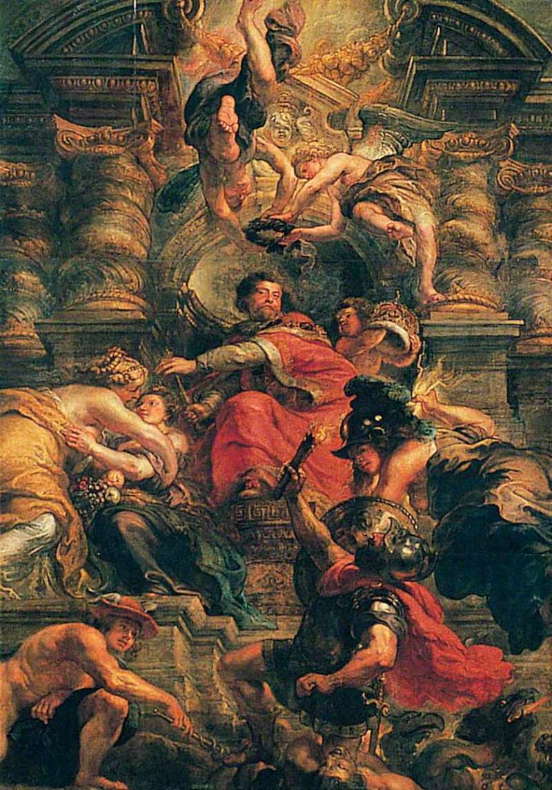 King James I rubens peaceful reign