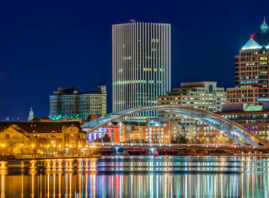 rochester skyline at night feat