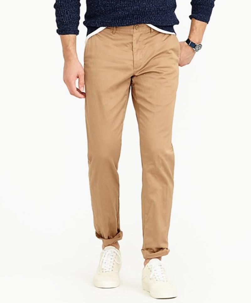 j.crew basics chino pants