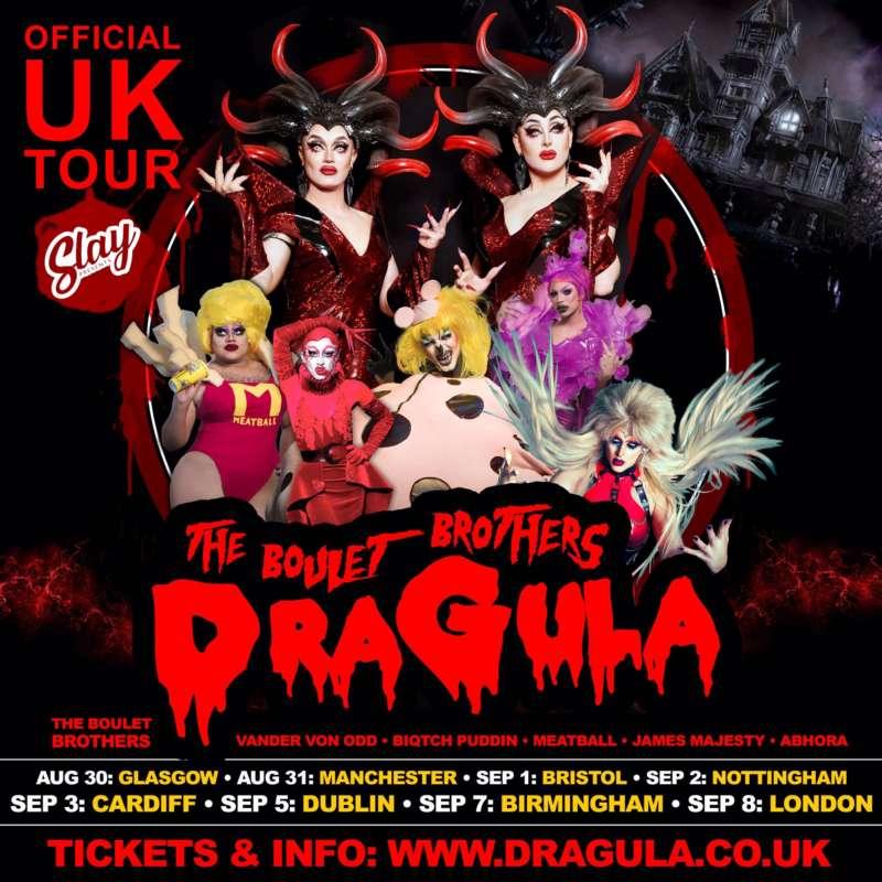 dragula tour poster vander van odd manchester eagle