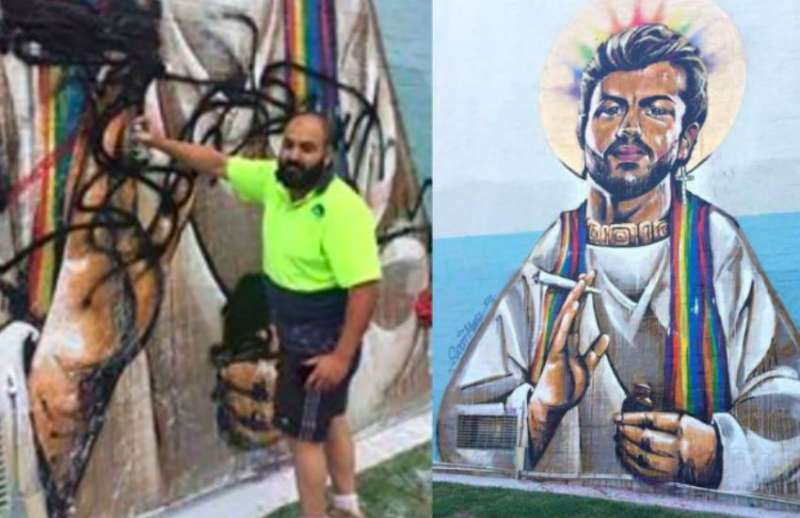 Ben Gittany 02, George Michael mural 02