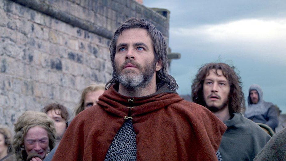 chris pine's penis toronto film festival outlaw king still