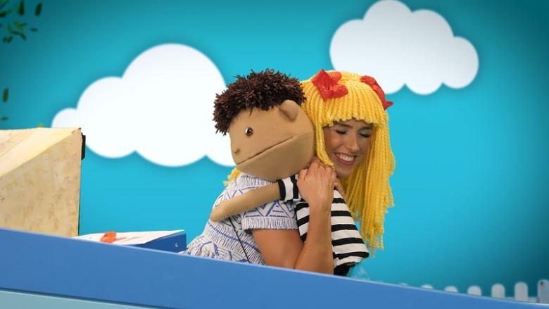trans puppet hug