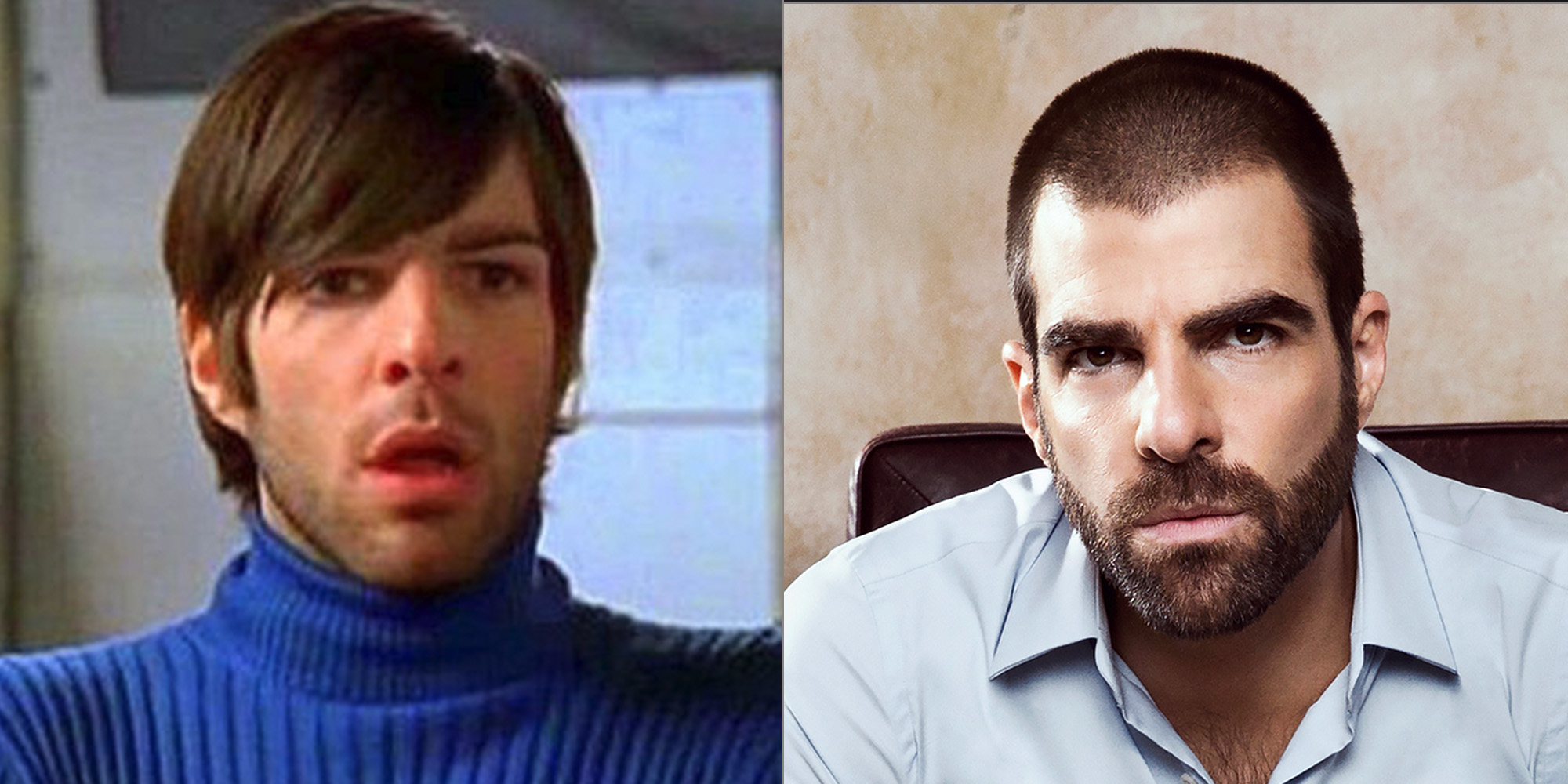 gay celebrities then and now zachary quinto