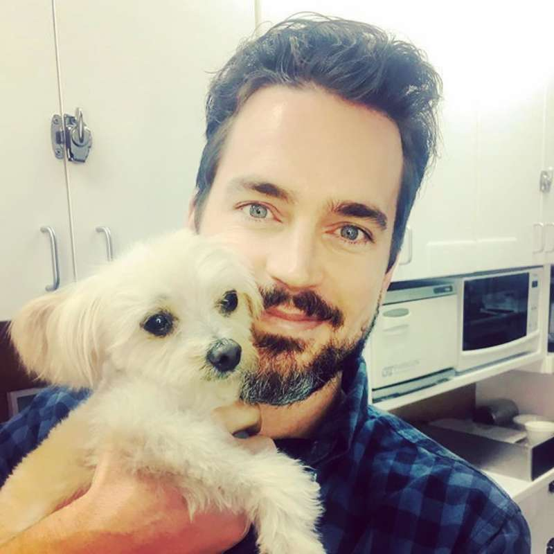 matt bomer and puppy