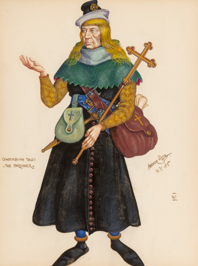 The Pardoner from The Canterbury Tales, femme characters 23
