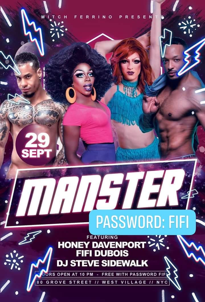 monster gay bar flyer